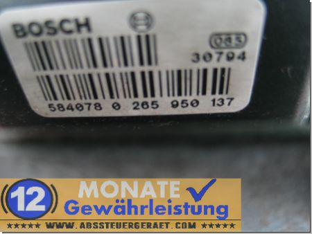 ABS Block A0004469289 0-265-225-299 Bosch 0265950137 Mercedes Sprinter