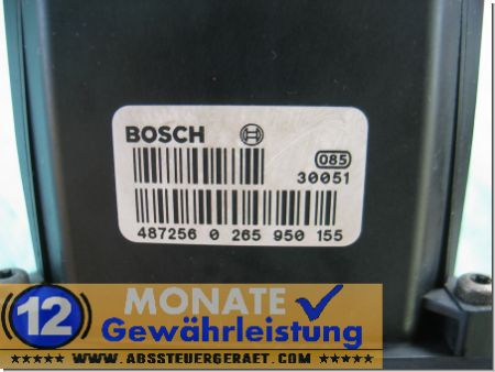 Bloc ABS Mondeo Ford 4S712C405AA 0-265-225-338 Bosch 0265950155
