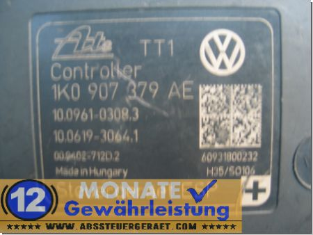 ABS/ESP Pumpe VW 1K0614517BE Audi 1K0-907-379-AE 10021202214 Ate 10.0961-0308.3