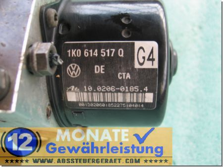 Bloc hydraulique ABS calculateur 1K0614517Q 1K0907379R