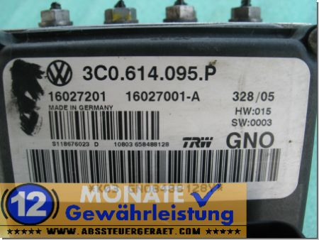 Bloc ABS calculateur Passat 3C0614095P VW 3C0.614.109.A