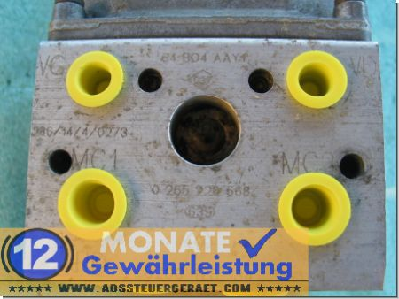 0265220668 8200178134 0273004662 ABS Renault Scenic RX4