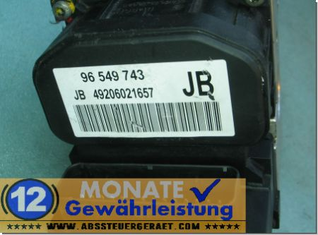 Bloc hydraulique ABS calculateur 0265216874 Bosch 96549743 Lacetti Nubira