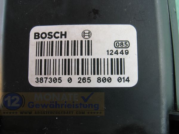 ABS Block 3S712M110AA 0-265-222-030 Bosch 0265800014 Ford Mondeo