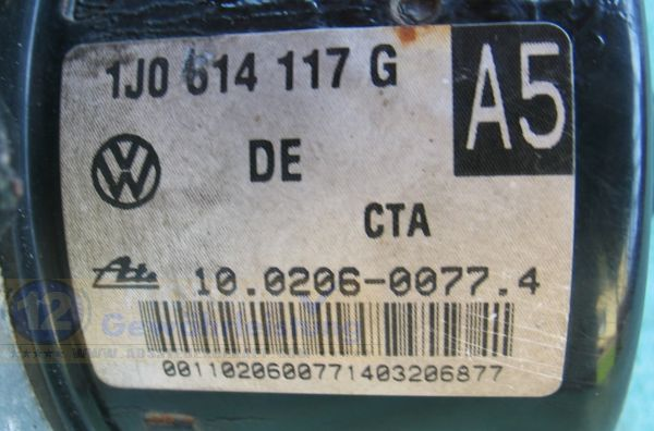 Centralina ABS VW 1J0614117G Audi 1C0907379L Seat 10020600774 Ate 10096003343