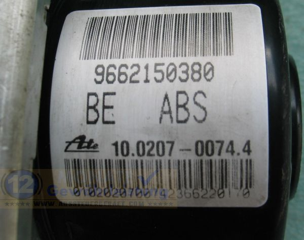 ABS Block 9662150380 10.0207-0074.4 Ate 10097011343 Citroen C3 C2
