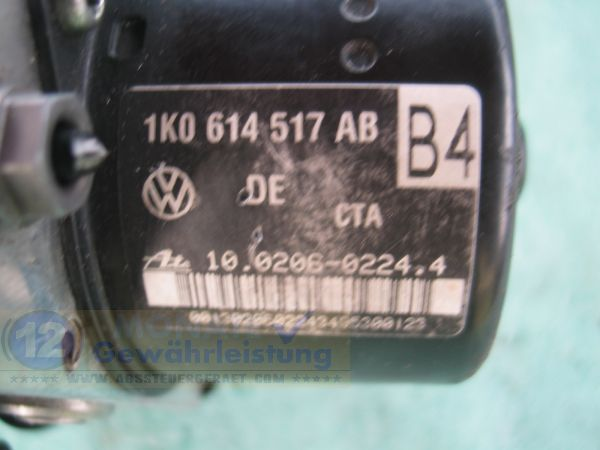 ABS Unit 1K0614517AB 1K0-907-379-AB 10020602244 Ate 10.0960-0361.3