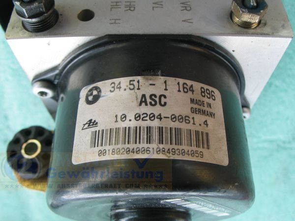 Bloc ABS calculateur ASC 34511164896 34511164897 BMW E36 Z3 E46