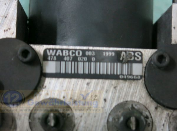 Bloc ABS Calculateur SRB-101241 WABCO 478-407-020-0 Land Rover Discovery